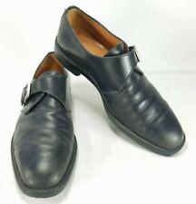 Salvatore Ferragamo Mens Leather Monk Buckle Strap Loafer Shoes Sz 11 D