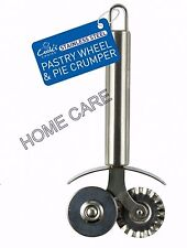 COOKS CHOICE PREMIUM STAINLESS STEEL PASTRY WHEEL & PIE CRUMPER