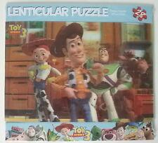 """Toy Story 3 Disney NEW Sealed 28 Piece Lenticular Puzzle 6"""" x 9""""  Woody Buzz Jes"""