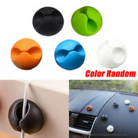 6Pieces Car Windshield Cables Holder Wires Clip Sticky Desk Accessories Random