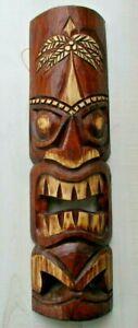 """TIKI MASK 20"""" WOOD HAWAIIAN ISLAND HOME WALL DECOR TRIBAL AFRICAN POLYNESIAN"""