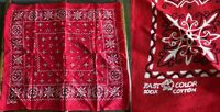 VTG ELEPHANT DAVIS CATTERALL TRUNK UP BRIGHT RED BANDANA SCARF WORKWEAR USA 21""