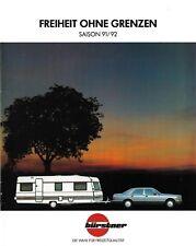 BÜRSTNER 1992 - WOHNWAGEN PROSPEKT - MIT PREISLISTE - CAMPING - CARAVANING