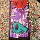 Jencalle Graffiti Art ORIGINAL Street Outsider Pop 16x8 CANVAS Panel PAINTING