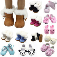 Handmade fashion Plush winter Boots shoes for 18inch American girl doll shoes~