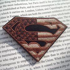 SUPER MAN SUPER HERO US FLAG MORALE MILSPEC AIRSOFT TACTICAL  PATCH/V2
