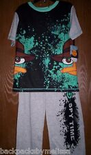 Phineas and Ferb PERRY Boy's 4/5 Pajamas NeW Short Sleeve Shirt & Pants Pjs NWT