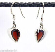 Ohrringe / Ohrhänger aus Silber 925 mit echtem Granat / Sterlingsilber- NEU -