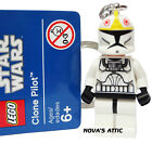 STAR WARS LEGO CLONE PILOTA PORTACHIAVI FIGURE MINI NUOVO