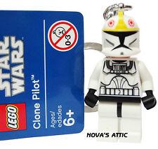 STAR WARS LEGO CLONE PILOTO LLAVERO MINIFIGURA NUEVO