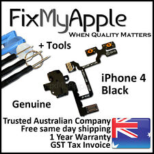 iPhone 4 OEM Black Headphone Audio Jack Volume Flex Cable Replacement Tools Kit