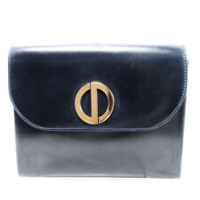 Dior Clutch Bag Leather Used Auth T10209