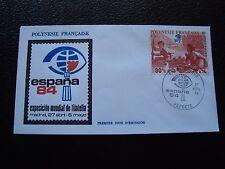 POLYNESIE FRANCAISE - enveloppe 1er jour 27/4/1984 (B7) (Z)