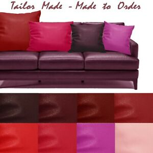 Tailor Made(Cover Only) Faux Leather Sofa Patio Bench Cushion Pillow Case Pb6