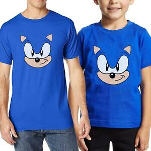 Kids Adults Unisex Sonic the Hedgehog Movie T-Shirt Birthday Novelty Gift Tee