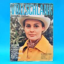 Vollschlank 1972 | Verlag für die Frau | DDR Schnittbogen Pramo-Sonderheft O