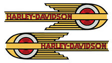 DECALS for Gas Tanks 1936 - 1939 Harley - Davidson VL Knuckle UL 45 Servi-Car