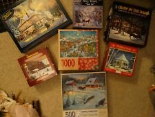 Christmas Winter Holiday Puzzle Lot