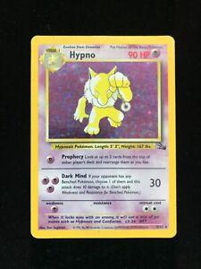 Hypno Holo Fossil Set Pokemon Card TCG WOTC 8/62 Rare Shiney
