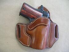 Sig Sauer P238 238 .380 Leather 2 Slot Molded Pancake Belt Holster CCW - TAN RH