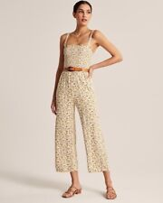 Abercrombie Wide Leg Smocked Jumpsuit Size Small
