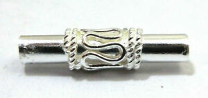 70 PCS 22X5MM SOLID COPPER BALI TUBE BEAD STERLING SILVER PLATED  703 ONO-9
