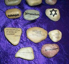 Scripture River Rocks Hebrew Judaic Christian Messianic Pick One Jewish Prayer