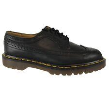 Dr Martens Mens Black Leather Wingtip Brogue Oxford Shoes ENGLAND Size UK 7 US 8