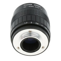 Black 35mm f1.7 C Mount TV Cine Movie Lens for Canon EOS M M2 M3 Durable