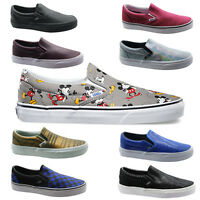 Vans Classic Slip On Checkerboard Denim Floral Disney Unisex Canvas Trainers WH