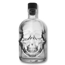 1 x Totenkopf Flasche - Totenschädel Flasche - Piratenflasche - Leer - 0,5 Liter