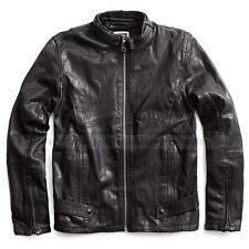 G-STAR RAW LUXURY LEATHER JACKET MOTO BIKER BLACK SIZE L(M) (rather Medium)