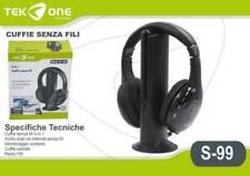 CUFFIE WIRELESS SENZA FILI con RADIO FM PER TV / DVD / MP3 / PC / Hi-Fi Stereo