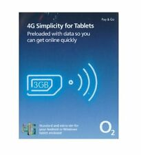 O2 SIM ONLY preloaded with 3GB of data for your tablets - 4G combi sim