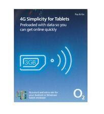 O2 SIM-KARTE NUR vorbelastet mit 3GB von daten für dich tablet - 4G combi SIM
