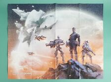 """Loot Crate Exclusive Space Lootcrate Gaming 28"""" X 22"""" Fold Out Poster Collectibl"""