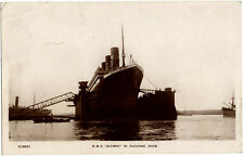 RMS Olympic In Floating Dock Post Card Post Titanic Sinking White Star Line