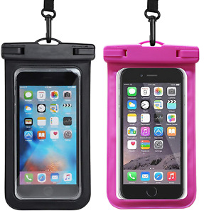 2 Pack Waterproof Phone Bag Pouch Underwater Cell Phone Case Cover Dry Bag
