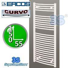 3S SCALDASELVIETTE TERMOARREDO BAGNO CURVO BIANCO 150x55 INTERASSE 50 cm ERCOS