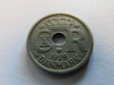 Mint Error 1929 Denmark 25 Ore Cn Coin Danmark Km #823.2 Struck Through