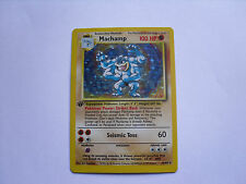 1st Edition Collectable Machamp 8/102 Holo Card