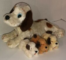 Vintage 60s DOG FAMILY Alps Battery Operated Nursing Puppies WORKING See Video