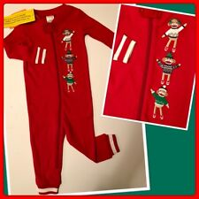 NWT 6-12 Gymboree COTTON SOCK MONKEY HOLIDAY CHRISTMAS Footless SLEEPER 1pc Red