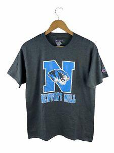 VINTAGE Newport Mill Tigers USA T Shirt Mens Size M Grey Logo Crew Neck