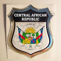 Pegatina Republica Centroafricana Escudo de Armas 3D Emblema Vinilo Adhesivo