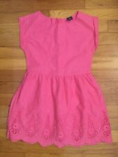 'GapKids' Girl's Pink Cotton Sleevless Dress w/embroidery - Size: S (6-7)