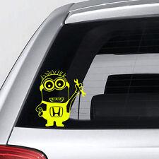 Minion Car Sticker - Honda minion sticker - funny bumper sticker