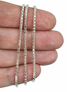 Box Chain, Sterling Silver, 46cm, 18 inches, Shiny Silver Chain, Hang Pendants