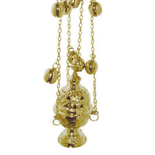 Christian Church Quality Brass Thurible Censer free shipping 4 chains 12 bells