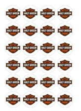 24 x Harley Davidson  Edible Image Cupcake Toppers Pre-Cut